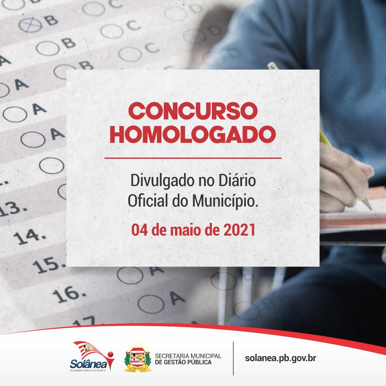 Governo de Solânea homologa concurso público.